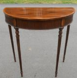 Mahogany Console Table with Bowfront